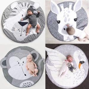 Dokonalá kojenecká měkká bavlněná podložka se zvířátky