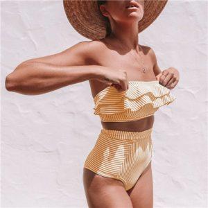 Luxusní dámské plavky s volánky Celeste
