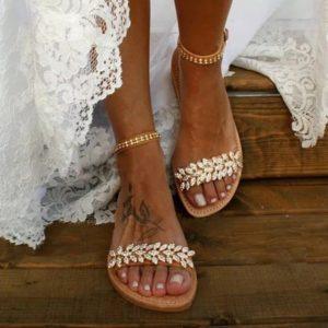 Dámské letní páskové sandálky