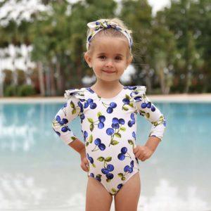 Dětské jednodílné plavky s dlouhým rukávem