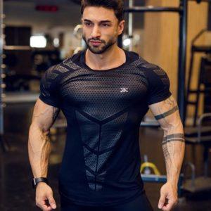 Kompresní rychleschnoucí pánské sportovní triko