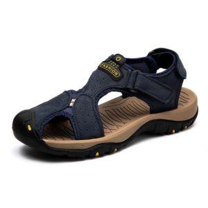 Pánské letní sandály v modré barvě