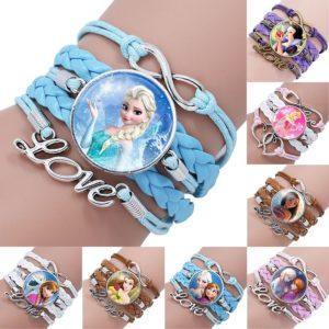 Krásný vícevrstvý dívčí náramek s oblíbenými princeznami