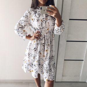 Dámské volné jarní dlouhé šaty Monica