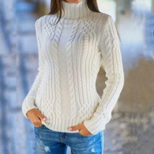 Dámský jednoduchý jarní svetr Jane