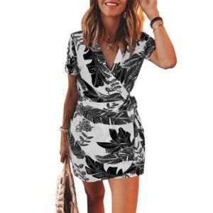 Dámské elegantní mini šaty s potiskem