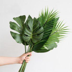Umělé dekorační listy do vázy