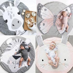 Kruhová módní kojenecká hrací deka