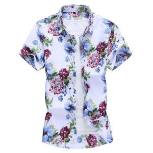 Pánská letní košile s květinovým motivem