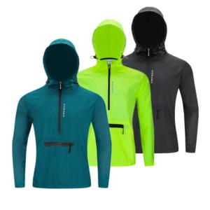 Pánská běžecká voděodolná sportovní bunda s kapucí