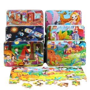 Dětské dřevěné puzzle - kreslené zvířátka a jiné