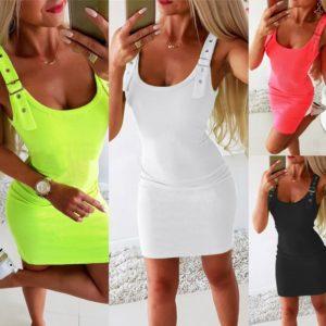 Dámské letní mini šaty v různých barvách