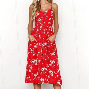 Dámské ležérní volné dlouhé letní šaty Monica