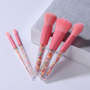 Sada profesionálních kosmetických štětců Lollipop