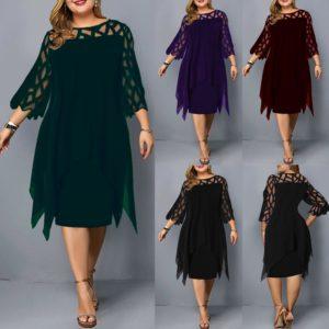 Krásné dámské Plus Size šaty v různých barvách