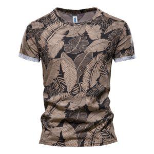Stylové pánské tričko s palmovými listy