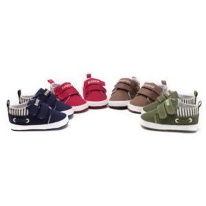 Měkké plátěné botičky pro novorozence