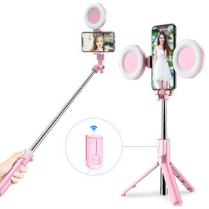 Selfie tyč / stativ s bluetooth ovladačem a kruhovým světlem