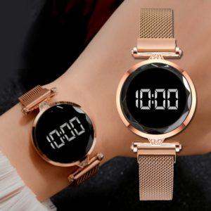 Luxusní digitální magnetické dámské hodinky